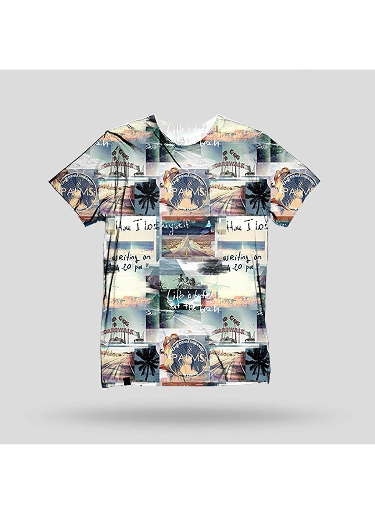 John Frank Tişört Jftd19-road Baskılı Dijital T-shirt – 79.99 TL